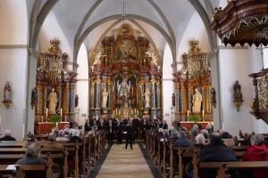 Zingen in de Barockkirche in Zwillbrock, altijd weer een feest om daar te zijn